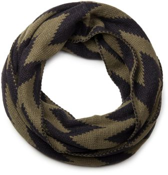styleBREAKER smooth knit tube scarf snood with contrasting zig-zag pattern, unisex 01018129 – Bild 8