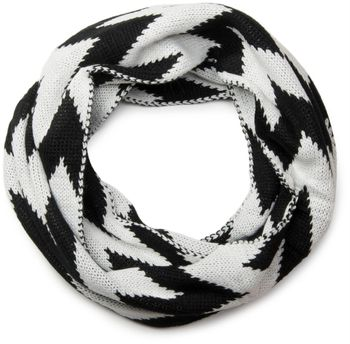 styleBREAKER smooth knit tube scarf snood with contrasting zig-zag pattern, unisex 01018129 – Bild 10