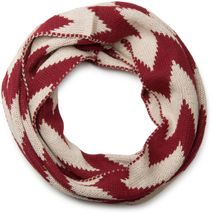 styleBREAKER smooth knit tube scarf snood with contrasting zig-zag pattern, unisex 01018129 – Bild 6