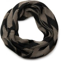 styleBREAKER smooth knit tube scarf snood with contrasting zig-zag pattern, unisex 01018129 – Bild 7