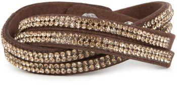 styleBREAKER weiches Strass Armband, eleganter Armschmuck mit Strassteinen, Wickelarmband, 2x2-Reihig, Damen 05040004 – Bild 10