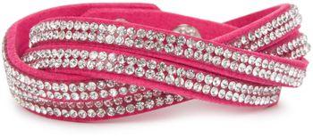 styleBREAKER weiches Strass Armband, eleganter Armschmuck mit Strassteinen, Wickelarmband, 2x2-Reihig, Damen 05040004 – Bild 11