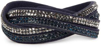 styleBREAKER weiches Strass Armband, eleganter Armschmuck mit Strassteinen, Wickelarmband, 2x2-Reihig, Damen 05040004 – Bild 13