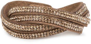 styleBREAKER weiches Strass Armband, eleganter Armschmuck mit Strassteinen, Wickelarmband, 2x2-Reihig, Damen 05040004 – Bild 21
