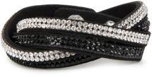 styleBREAKER weiches Strass Armband, eleganter Armschmuck mit Strassteinen, Wickelarmband, 2x2-Reihig, Damen 05040004 – Bild 6