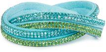styleBREAKER weiches Strass Armband, eleganter Armschmuck mit Strassteinen, Wickelarmband, 2x2-Reihig, Damen 05040004 – Bild 16