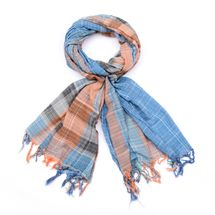 styleBREAKER colorful stripes plaid pattern scarf with fringe, men 01018075 – Bild 4