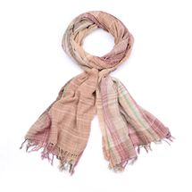 styleBREAKER colorful stripes plaid pattern scarf with fringe, men 01018075 – Bild 6