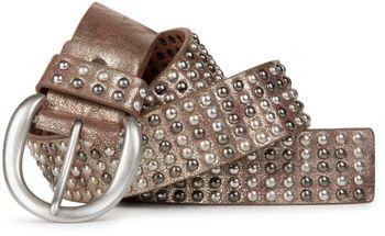 styleBREAKER Nieten Gürtel im Vintage Style  und mehrfarbigen Kugelnieten, kürzbar 03010048 – Bild 3