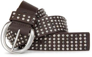 styleBREAKER Nieten Gürtel im Vintage Style  und mehrfarbigen Kugelnieten, kürzbar 03010048 – Bild 4