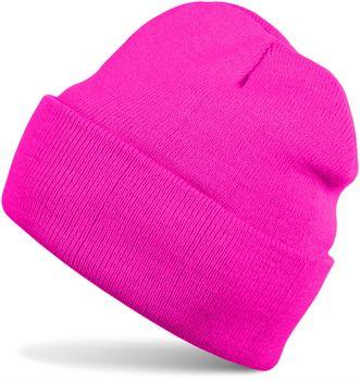 styleBREAKER klassische Beanie Strickmütze für Kinder, Feinstrick Mütze doppelt gestrickt, Kindermütze 04024030 – Bild 4