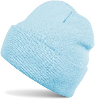 styleBREAKER klassische Beanie Strickmütze für Kinder, Feinstrick Mütze doppelt gestrickt, Kindermütze 04024030 – Bild 8
