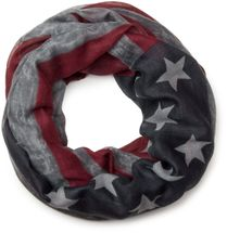 styleBREAKER vintage design USA flag pattern loop tube scarf, stars and stripes, unisex 01016083 – Bild 3