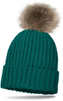 styleBREAKER lined pompom hat with ribbed pattern, knit beanie with fur bobble, winter hat 04024031 – Bild 10