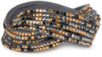 styleBREAKER soft and elegant rhinestone wrab bracelet, wristband, 6x1-row, women jewelry 05040005 – Bild 40