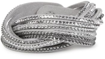 styleBREAKER soft and elegant rhinestone wrab bracelet, wristband, 6x1-row, women jewelry 05040005 – Bild 20