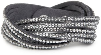 styleBREAKER soft and elegant rhinestone wrab bracelet, wristband, 6x1-row, women jewelry 05040005 – Bild 1