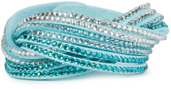 styleBREAKER soft and elegant rhinestone wrab bracelet, wristband, 6x1-row, women jewelry 05040005 – Bild 38