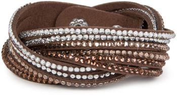 styleBREAKER soft and elegant rhinestone wrab bracelet, wristband, 6x1-row, women jewelry 05040005 – Bild 10