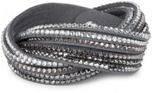 styleBREAKER soft and elegant rhinestone wrab bracelet, wristband, 6x1-row, women jewelry 05040005 – Bild 42