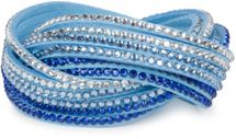 styleBREAKER soft and elegant rhinestone wrab bracelet, wristband, 6x1-row, women jewelry 05040005 – Bild 49