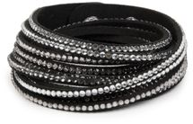 styleBREAKER soft and elegant rhinestone wrab bracelet, wristband, 6x1-row, women jewelry 05040005 – Bild 3