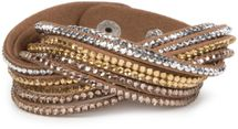 styleBREAKER soft and elegant rhinestone wrab bracelet, wristband, 6x1-row, women jewelry 05040005 – Bild 7