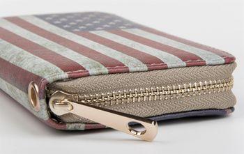 styleBREAKER USA designer purse in stars & stripes vintage design with zipper, women 02040020 – Bild 7
