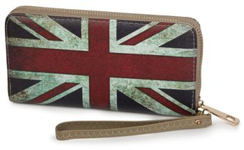 styleBREAKER Union Jack designer purse in United Kingdom vintage design with zipper, women 02040021 – Bild 9
