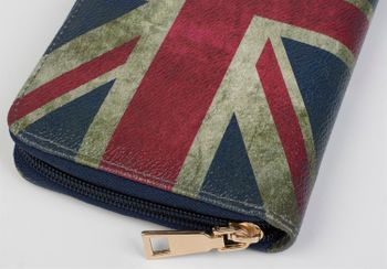 styleBREAKER Union Jack designer purse in United Kingdom vintage design with zipper, women 02040021 – Bild 8