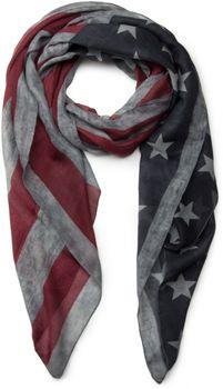 styleBREAKER Vintage Design USA Flaggen Muster Schal, Stars and Stripes, Unisex 01016084 – Bild 1