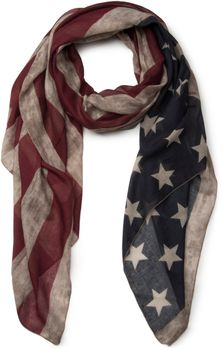 styleBREAKER vintage design USA flag pattern scarf, stars and stripes, unisex 01016084 – Bild 2