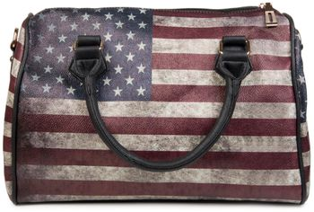 styleBREAKER USA vintage handbag in stars & stripes design, bowling bag, tote bag, women 02012014 – Bild 5