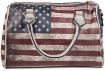 styleBREAKER USA vintage handbag in stars & stripes design, bowling bag, tote bag, women 02012014 – Bild 9
