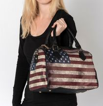 styleBREAKER USA vintage handbag in stars & stripes design, bowling bag, tote bag, women 02012014 – Bild 13