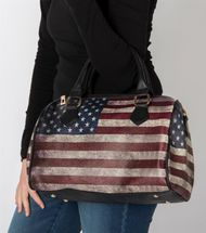 styleBREAKER USA vintage handbag in stars & stripes design, bowling bag, tote bag, women 02012014 – Bild 14