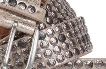 styleBREAKER studded belt with star studs in a vintage design, 03010050 – Bild 22