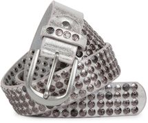 styleBREAKER studded belt with star studs in a vintage design, 03010050 – Bild 17