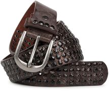 styleBREAKER studded belt with star studs in a vintage design, 03010050 – Bild 5