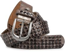 styleBREAKER studded belt with star studs in a vintage design, 03010050 – Bild 3
