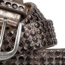 styleBREAKER studded belt with star studs in a vintage design, 03010050 – Bild 4
