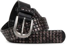 styleBREAKER studded belt with star studs in a vintage design, 03010050 – Bild 13