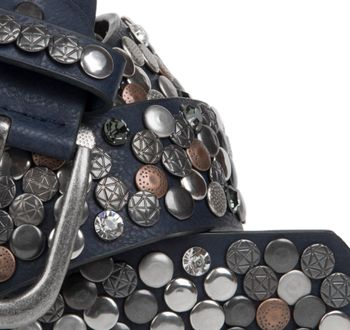 styleBREAKER studded belt with various studs and rhinestones in a vintage design, 03010051 – Bild 18