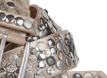 styleBREAKER studded belt with various studs and rhinestones in a vintage design, 03010051 – Bild 20