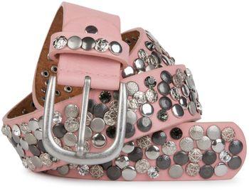 styleBREAKER Nietengürtel im Vintage Design, verschiedenen Nieten und Strass, kürzbar, Damen 03010051 – Bild 27