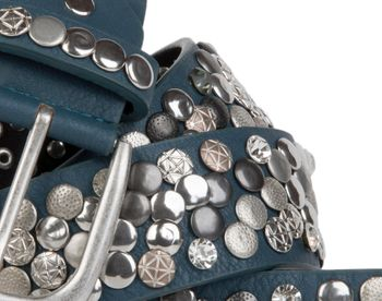 styleBREAKER studded belt with various studs and rhinestones in a vintage design, 03010051 – Bild 26