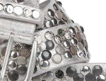 styleBREAKER studded belt with various studs and rhinestones in a vintage design, 03010051 – Bild 32