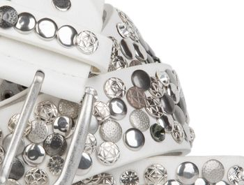 styleBREAKER Nietengürtel im Vintage Design, verschiedenen Nieten und Strass, kürzbar, Damen 03010051 – Bild 34