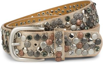 styleBREAKER studded belt with various studs and rhinestones in a vintage design, 03010051 – Bild 48