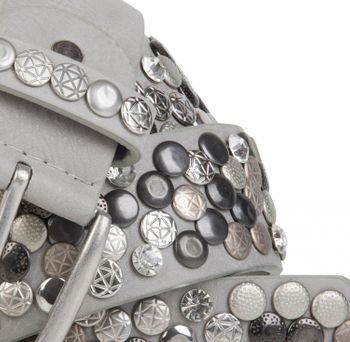 styleBREAKER studded belt with various studs and rhinestones in a vintage design, 03010051 – Bild 38